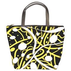Yellow movement Bucket Bags