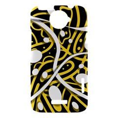 Yellow movement HTC One X Hardshell Case