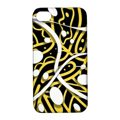 Yellow movement Apple iPhone 4/4S Hardshell Case with Stand