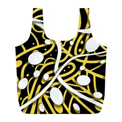 Yellow movement Full Print Recycle Bags (L)