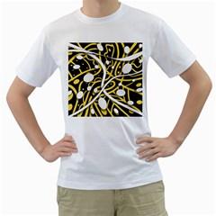 Yellow movement Men s T-Shirt (White)