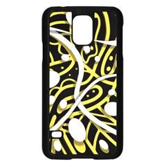Yellow movement Samsung Galaxy S5 Case (Black)