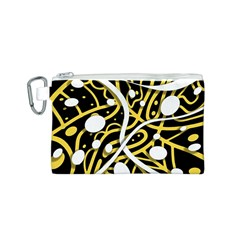 Yellow movement Canvas Cosmetic Bag (S)