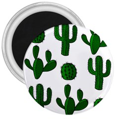 Cactuses pattern 3  Magnets