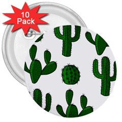 Cactuses pattern 3  Buttons (10 pack)