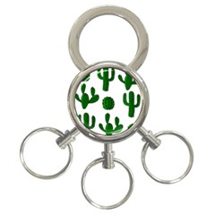 Cactuses pattern 3-Ring Key Chains