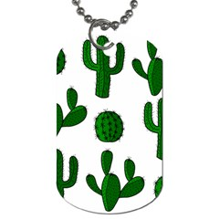 Cactuses pattern Dog Tag (One Side)