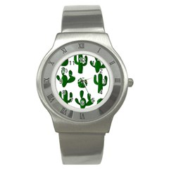 Cactuses pattern Stainless Steel Watch