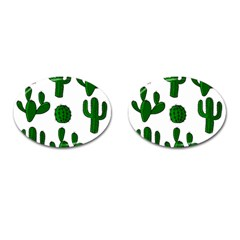 Cactuses pattern Cufflinks (Oval)