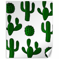 Cactuses pattern Canvas 16  x 20