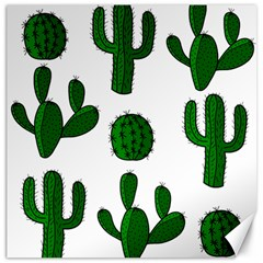 Cactuses pattern Canvas 20  x 20