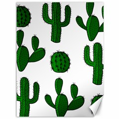 Cactuses pattern Canvas 36  x 48