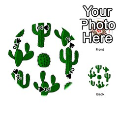 Cactuses pattern Playing Cards 54 (Round)
