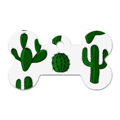 Cactuses pattern Dog Tag Bone (Two Sides)