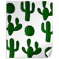 Cactuses pattern Canvas 11  x 14