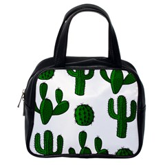Cactuses pattern Classic Handbags (One Side)