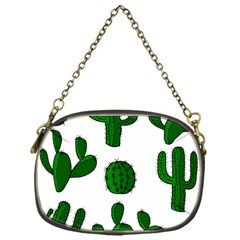Cactuses pattern Chain Purses (One Side)