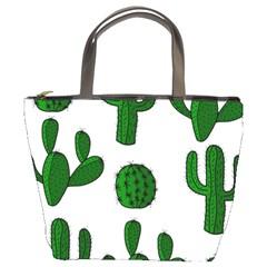 Cactuses pattern Bucket Bags