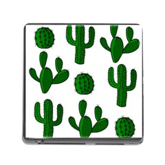 Cactuses pattern Memory Card Reader (Square)