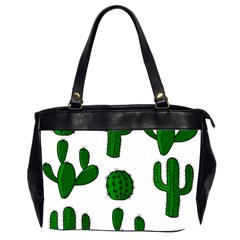 Cactuses pattern Office Handbags (2 Sides)