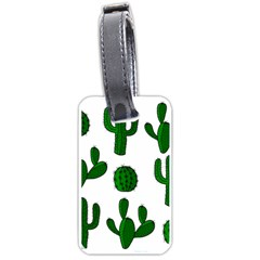Cactuses pattern Luggage Tags (Two Sides)