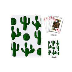 Cactuses pattern Playing Cards (Mini)