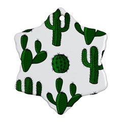 Cactuses pattern Snowflake Ornament (2-Side)