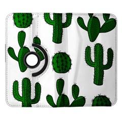 Cactuses pattern Samsung Galaxy Note II Flip 360 Case