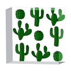 Cactuses pattern 5  x 5  Acrylic Photo Blocks