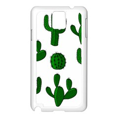Cactuses pattern Samsung Galaxy Note 3 N9005 Case (White)