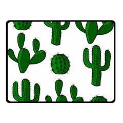 Cactuses pattern Double Sided Fleece Blanket (Small)