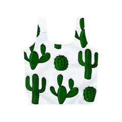 Cactuses pattern Full Print Recycle Bags (S)