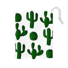 Cactuses pattern Drawstring Pouches (Large)