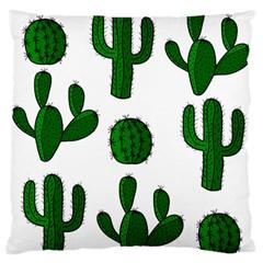Cactuses pattern Large Flano Cushion Case (One Side)