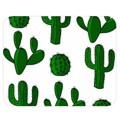 Cactuses pattern Double Sided Flano Blanket (Medium)