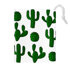 Cactuses pattern Drawstring Pouches (Extra Large)