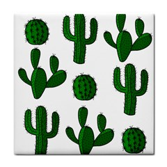 Cactuses pattern Tile Coasters