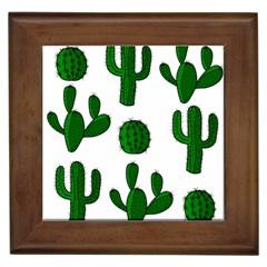 Cactuses pattern Framed Tiles