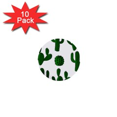 Cactuses pattern 1  Mini Buttons (10 pack)