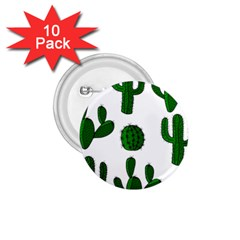 Cactuses pattern 1.75  Buttons (10 pack)