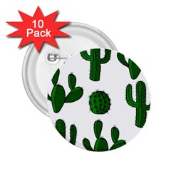 Cactuses pattern 2.25  Buttons (10 pack)