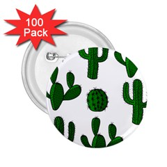 Cactuses pattern 2.25  Buttons (100 pack)