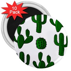 Cactuses pattern 3  Magnets (10 pack)
