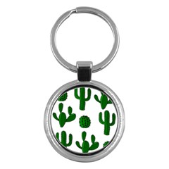 Cactuses pattern Key Chains (Round)