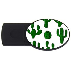 Cactuses pattern USB Flash Drive Oval (1 GB)