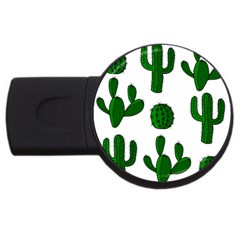 Cactuses pattern USB Flash Drive Round (4 GB)