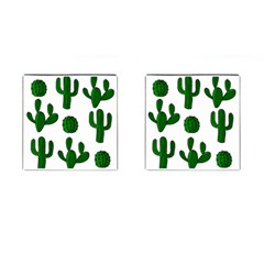 Cactuses pattern Cufflinks (Square)