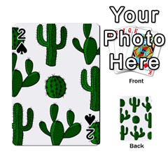 Cactuses pattern Playing Cards 54 Designs