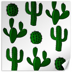 Cactuses pattern Canvas 16  x 16
