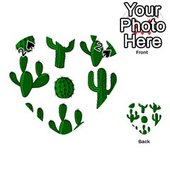 Cactuses pattern Playing Cards 54 (Heart)